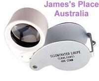 Gemstone Jewellers Loupe - 40x Plus Led Light