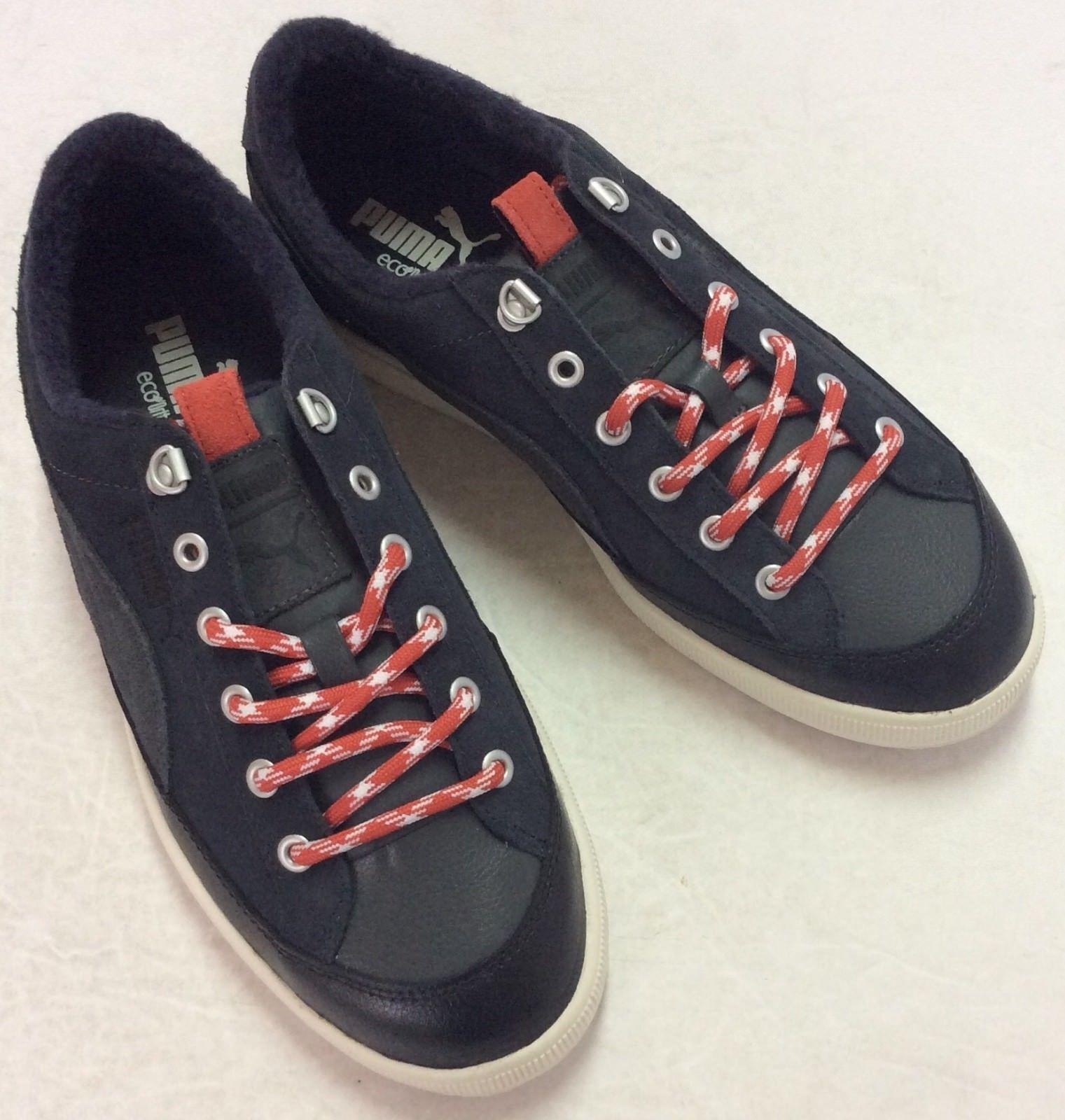 Puma ARCHIVE LITE LOW Men Sneaker Black Gray Lace Up Sz 10.5