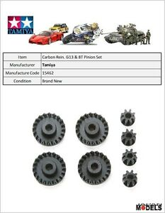 Mini 4wd CARBON REINFORCED G13 & 8T PINION GEAR SET Tamiya 15462 New Nuovo