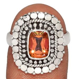 Garnet - Madagascar 925 Sterling Silver Ring Jewelry s.6 BR61564 282I