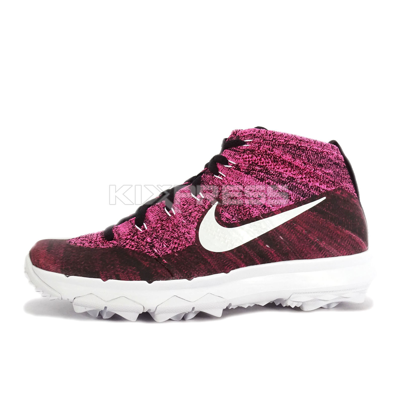 Nike WMNS Flyknit Chukka Price reduction Women Golf Shoes Burgundy/Pink-White