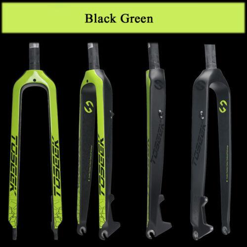 "MTB Bicycle Carbon Fiber Rigid Fork 1-1//8/"" Disc Brake Mountain Bike 26//27.5//29in"