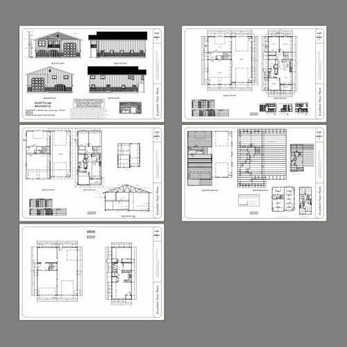 2,187 sqft 44x48 House with 1-RV Garage Model 2B PDF FloorPlan
