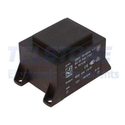 1pcs BVEI5421157 Trasformatore incapsulato 20VA 230VAC 12V 1667mA 500g HAHN