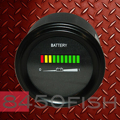 "Forklift 12 Volt Battery indicator for Golfcart ATV Marine 2/"" Round USAww"