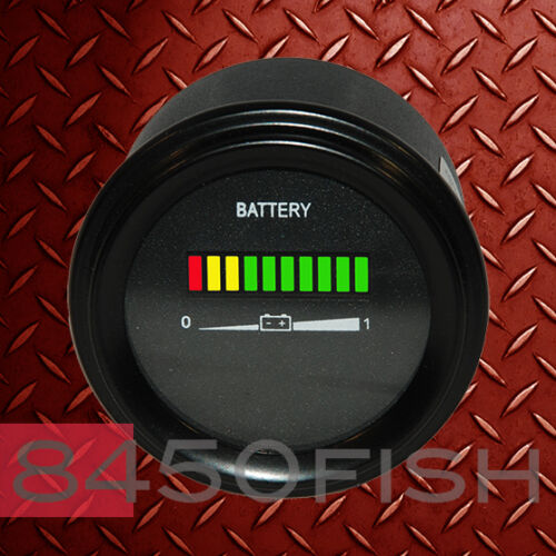 12V Battery indicator boat forklift gauge for golfcart car meter