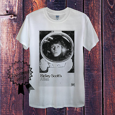 Alien T-shirt White Grey Men Women Fitted Sigourney Weaver Ridley Scott Predator