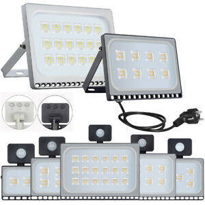 10-500W-LED-Fluter-mit-Bewegungsmelder-Stecker-Aussen-Strahler-Scheinwerfer-IP65