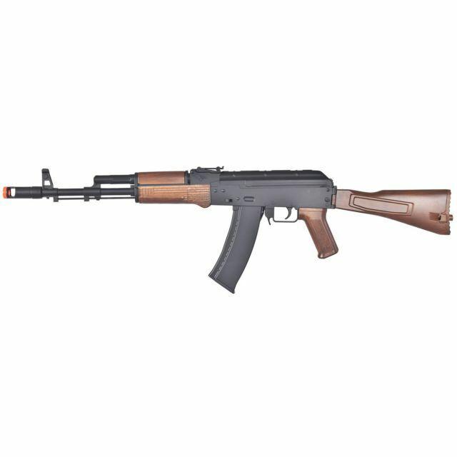 Broken Uk Arms D74 Airsoft Aeg Bb Gun Rifle Magazine Clip Black Wood Replica For Sale Online Ebay