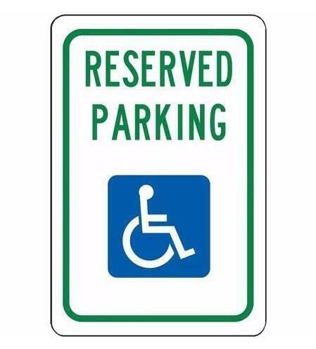 Metal Sign Plate Warn Reserve Parking Cave Wall Home Bar CLub Decor Handicapped