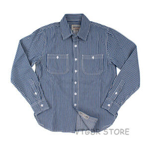 Vintage-Striped-Work-Shirts-For-Men-Fall-Casual-Railroad-Retro-Worker-Shirt-L-XL