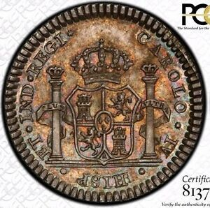 FINEST-amp-ONLY-PCGS-MS63-1790-MEXICO-1-REALE-PROCLAMATION-MEDAL-GROVE-C-140-TONED