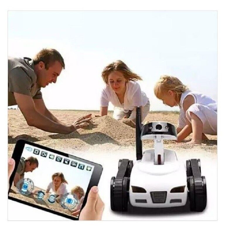 White Remote Control TOY TANK w  Wireless Camera & & & Controlled by SmartPhone APP 28d9f3