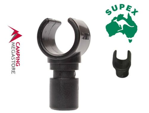 SUPEX AUSTRALIAN CAMPING ACCESSORIES PLASTIC SNAP CLIP FOR POLES 19 TO 22
