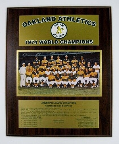 Oakland Athletics 1974 World Series Championship Plaque by Healy Awards
