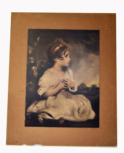 16-034-Antique-Print-Campbell-Art-Elizabeth-NJ-Young-Girl-Sitting-Age-of-Innocence