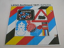 Lego catalogue de 1971 / catalog from 1971 (97220-ty)
