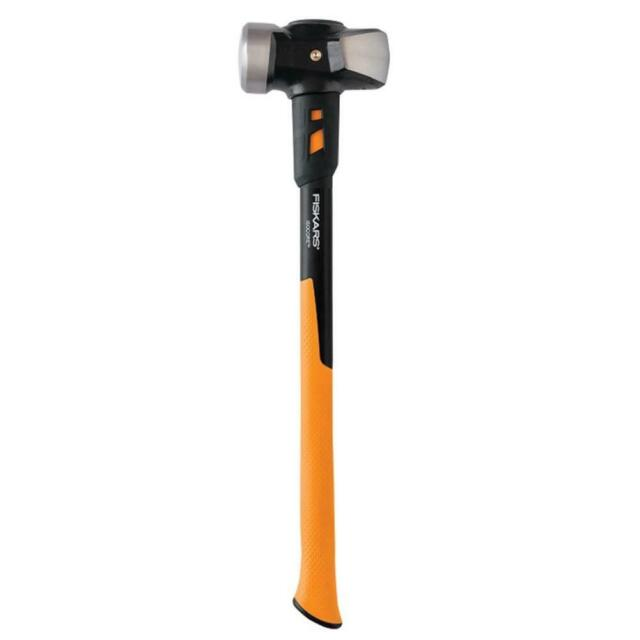 """Red Hammer Head SHOP HAMMER WITH 24/"""" HICKORY HANDLE 4 LB DOUBLE FACED"""