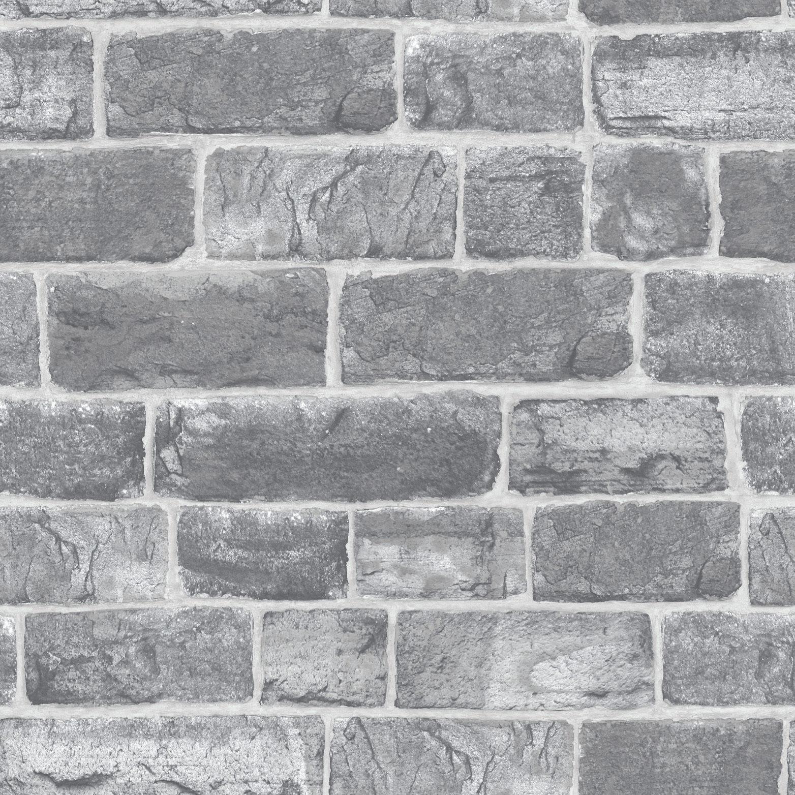 Luxe Papier peint Rasch Urbain Urbain Urbain Faux Brique/Gris Pierre Aspect Mur 217346 795026
