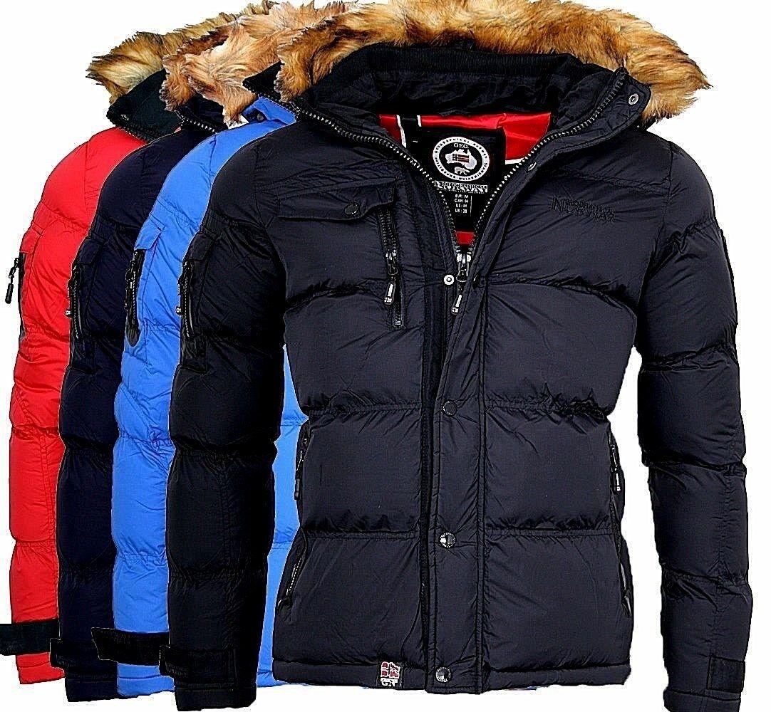 Földrajzi Norvégia Férfi meleg téli dzseki takaró kabát kültéri Parka Bonap