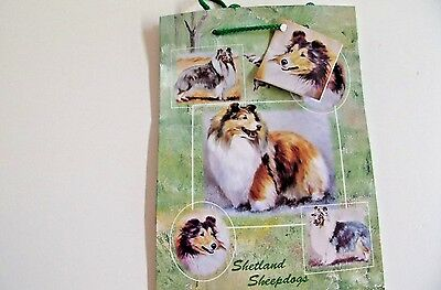 Sheltie Gift Wrapping Paper w//matching Gift Card by Maystead SHETLAND SHEEPDOG
