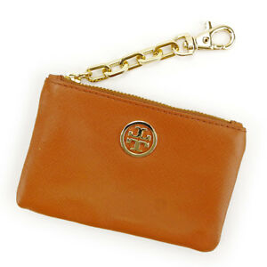 bc92d288fd8e Tory Burch Wallet Purse Coin Purse Brown Gold Woman Authentic Used ...