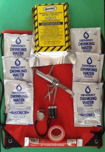 2-Day Food//Water Light Supply Survival Emergency Earthquake Car Safety Kit