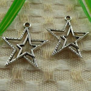 free ship 55 pieces tibetan silver sheep star charms 22x21mm S4865