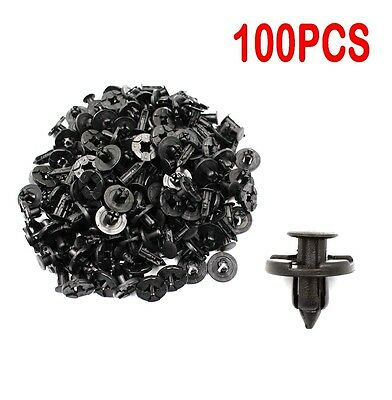 100pcs Plastic Rivet Fastener Mud Flaps Bumper Fender Push Clips 8mm for Nissan