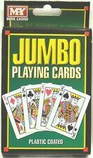 Extra grande de plástico recubierto Naipes Big Jumbo Gigante Juegos Puente Poker