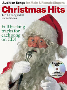 Details about Audition Songs Male Female Singers Christmas Hits SING Pop  PVG Music Book