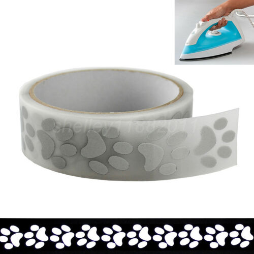Iron On Reflective Tape Sticker Heat Transfer Vinyl For Clothes 25mmx3m