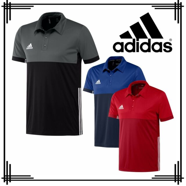adidas 3 Stripe Mens T16 Sports Polo Shirt Climacool Running Gym T Shirt Top