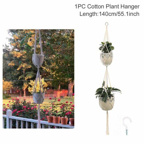 Macrame Plant Hanger Garden Indoor Hanging Planter Basket Rope Pot Holder Decor