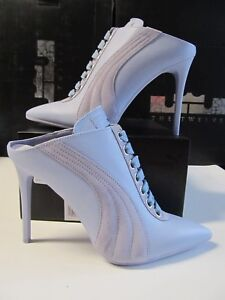 big sale d2917 ff66e Details about Womens Puma FENTY RIHANNA Lace Up Mule Heel ITALY Blue  LEATHER 7 364468 02