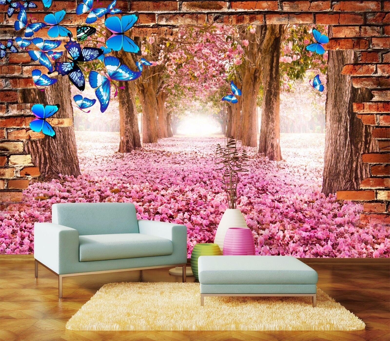 3D Romantic petals 356 Wall Paper Print Wall Decal Deco Indoor Wall Murals