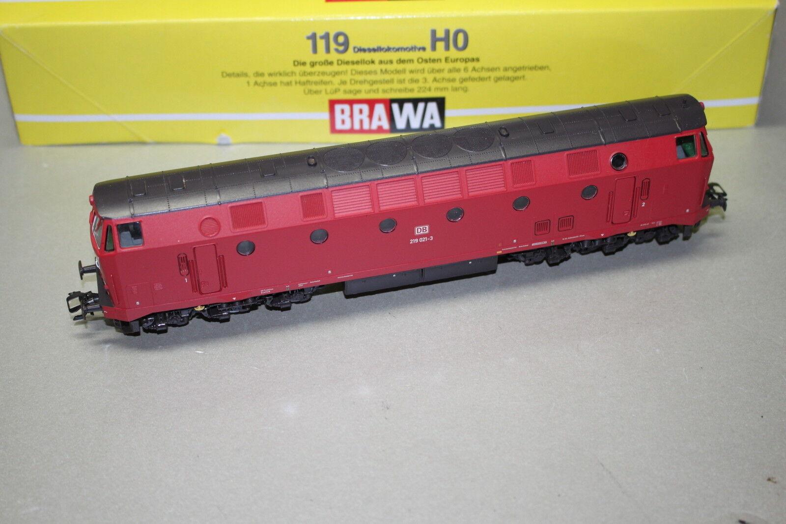 Brawa 0435 Diesellok Baureihe 219 021-3 DB rot DSS Spur H0 OVP  | Shopping Online