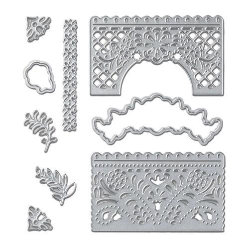 DIY Letter Flower Embossing Metal Cutting Dies Stencils Stamps Paper Card Craft