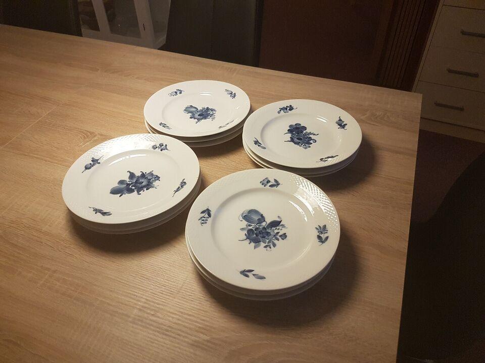 Porcelæn, Tallerkner, Blå Blomst Royal Copenhagen
