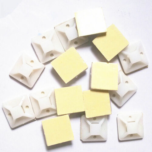 10//20//50 Pcs Self Adhesive Cable Tie Mount Base Holder 20 x 20mm