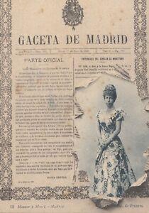 Postal-Espagne-Madrid-Gazette-Du-pour-Madrid-MBC