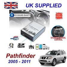 Nissan Pathfinder Mp3 Sd Usb Cd Aux entrada Adaptador De Audio Digital Cd Cambio módulo