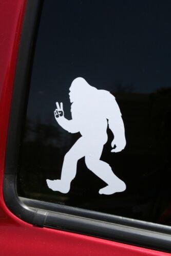 Buy 2 get 1 FREE offer! Bigfoot Flashing Peace Sign die-cut window sticker