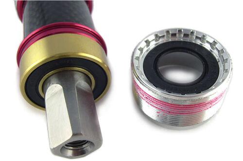 OMNI Racer Titanium Ti Ceramic ISO Square Taper Bottom Bracket 70x111mm Italian