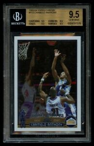 2003 Topps Chrome Carmelo Anthony #113 Rookie RC BGS 9.5 Gem Mint
