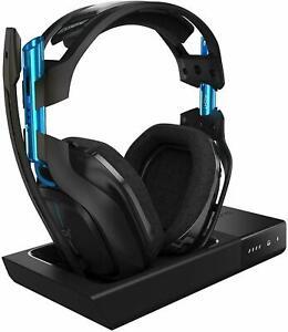 ASTRO-Gaming-por-Logitech-A50-Auricular-Inalambrico-Estacion-Base-PS4-amp-PC-Negro-Azul