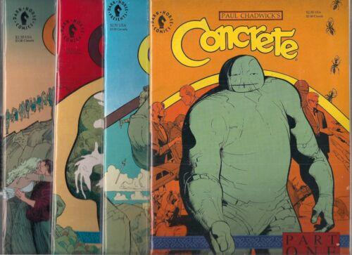 CONCRETE FRAGILE CREATURE #1-#4 SET NM- PAUL CHADWICK DARK HORSE COMICS