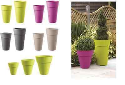 Stewart Plastic Pot Modena Planter Plant Patio Tub Various Sizes & Colours