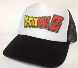 Dragon Ball Z trucker hat mesh hat Snap Back Hat black new adjustable Brand New