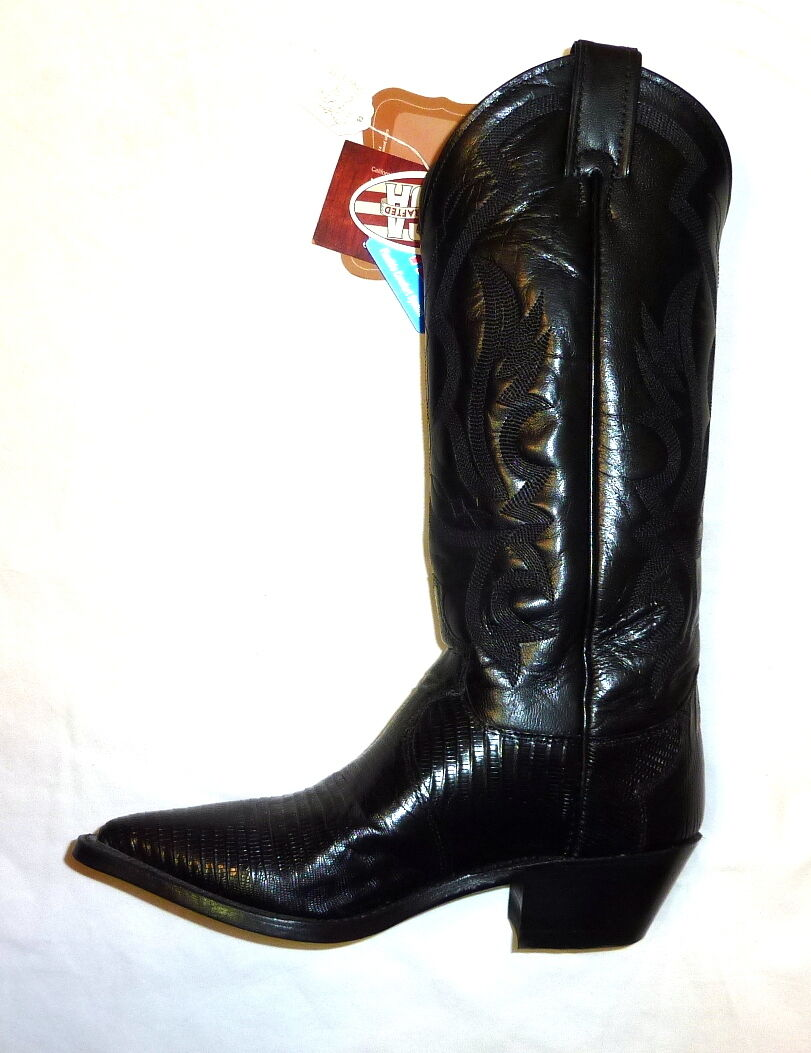 Justin L4786 Größe 5.5B 5.5B 5.5B damen 13  Iguana Lizard Western Cowgirl Stiefel schwarz NEW ca6e01